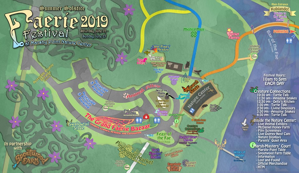 Summer Solstice Marshy Point Event Map